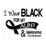 Llevo el negro para mi tía 42 melanoma tarjeta postal