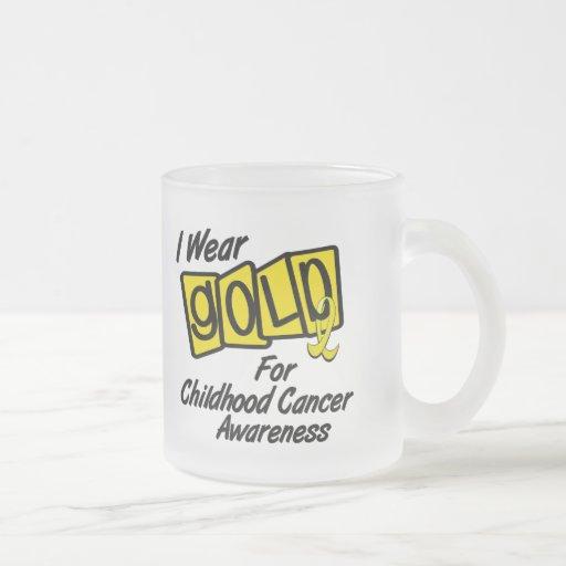 Llevo el oro para la CONCIENCIA 8 del CÁNCER de la Taza