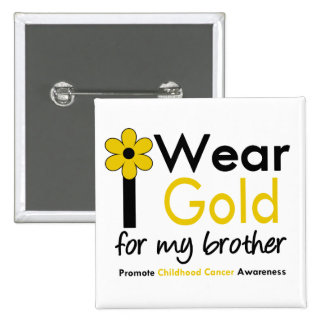 Llevo el oro para mi Brother la flor Pin