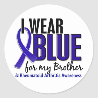 Llevo el RA azul de la artritis reumatoide de Brot Etiqueta