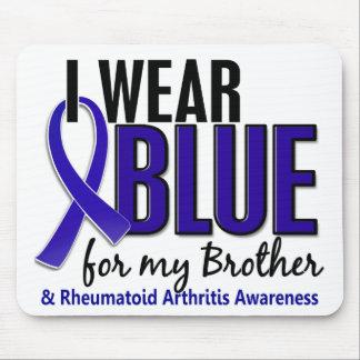 Llevo el RA azul de la artritis reumatoide de Brot Tapetes De Raton