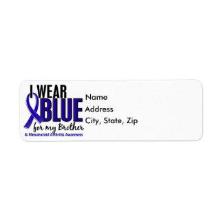 Llevo el RA azul de la artritis reumatoide de Etiqueta De Remitente