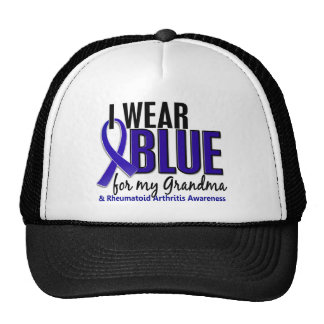 Llevo el RA azul de la artritis reumatoide de la a Gorro De Camionero
