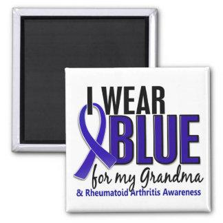 Llevo el RA azul de la artritis reumatoide de la a Imán Cuadrado