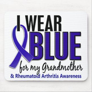 Llevo el RA azul de la artritis reumatoide de la a Tapete De Ratón