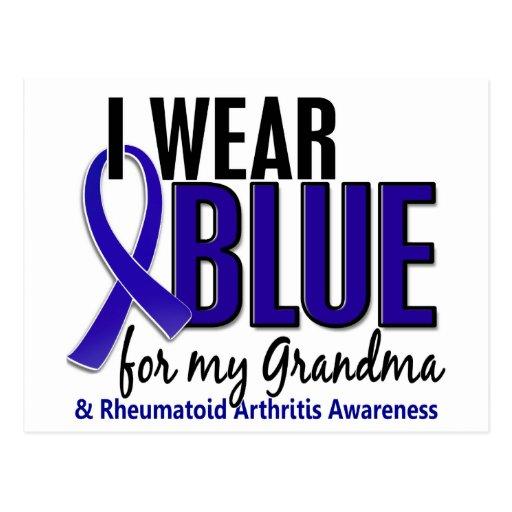Llevo el RA azul de la artritis reumatoide de la a Postales