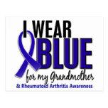 Llevo el RA azul de la artritis reumatoide de la a Postal