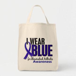 Llevo el RA azul de la artritis reumatoide de la c Bolsas