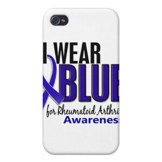 Llevo el RA azul de la artritis reumatoide de la c iPhone 4/4S Carcasas