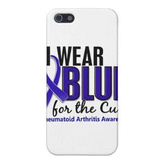 Llevo el RA azul de la artritis reumatoide de la c iPhone 5 Funda