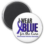 Llevo el RA azul de la artritis reumatoide de la c Imanes