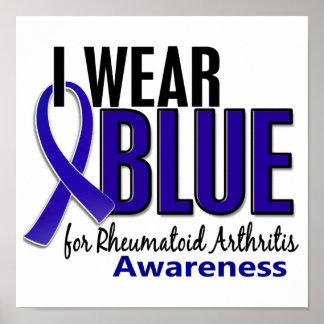 Llevo el RA azul de la artritis reumatoide de la c Posters