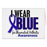 Llevo el RA azul de la artritis reumatoide de la c Felicitaciones