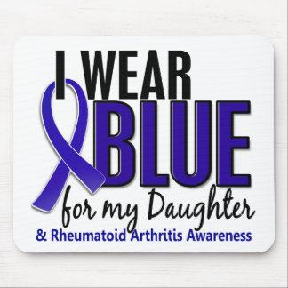 Llevo el RA azul de la artritis reumatoide de la h Alfombrilla De Ratones