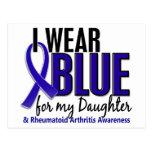 Llevo el RA azul de la artritis reumatoide de la h Postal