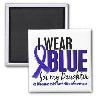 Llevo el RA azul de la artritis reumatoide de la Imán Cuadrado