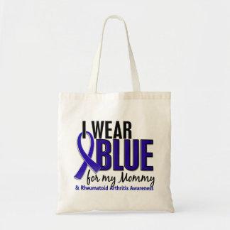 Llevo el RA azul de la artritis reumatoide de la m Bolsa De Mano