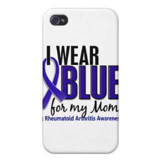 Llevo el RA azul de la artritis reumatoide de la m iPhone 4 Protector