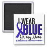 Llevo el RA azul de la artritis reumatoide de la m Iman De Nevera