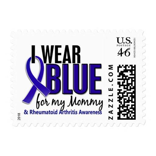 Llevo el RA azul de la artritis reumatoide de la m Sello