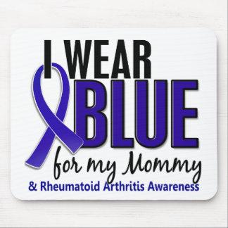 Llevo el RA azul de la artritis reumatoide de la m Alfombrillas De Raton