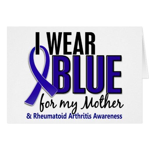 Llevo el RA azul de la artritis reumatoide de la m Felicitacion