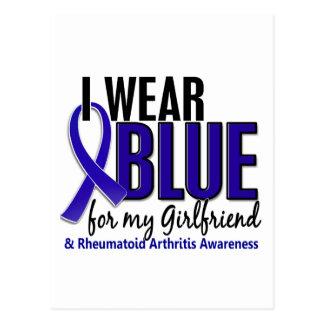 Llevo el RA azul de la artritis reumatoide de la n Postal