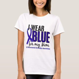 Llevo el RA azul de la artritis reumatoide de la Playera