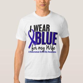 Llevo el RA azul de la artritis reumatoide de la Playeras