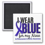 Llevo el RA azul de la artritis reumatoide de la s Imán De Frigorífico