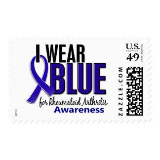 Llevo el RA azul de la artritis reumatoide de la Sellos