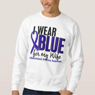 Llevo el RA azul de la artritis reumatoide de la Sudaderas