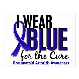Llevo el RA azul de la artritis reumatoide de la Tarjetas Postales