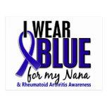 Llevo el RA azul de la artritis reumatoide de Nana Postal