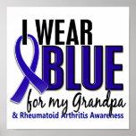 Llevo el RA azul de la artritis reumatoide del abu Posters