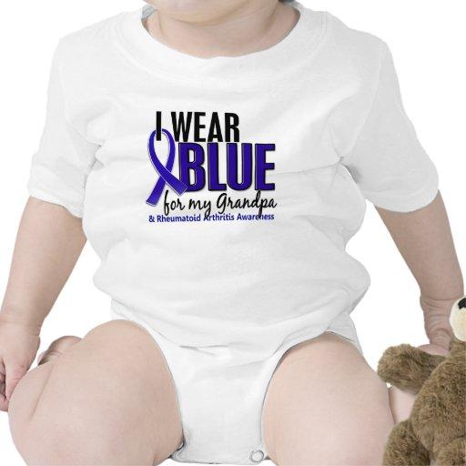 Llevo el RA azul de la artritis reumatoide del abu Traje De Bebé