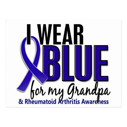 Llevo el RA azul de la artritis reumatoide del abu Postal
