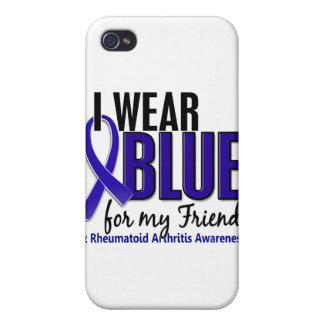 Llevo el RA azul de la artritis reumatoide del ami iPhone 4/4S Carcasas
