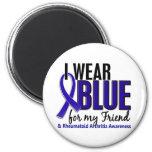 Llevo el RA azul de la artritis reumatoide del ami Imanes
