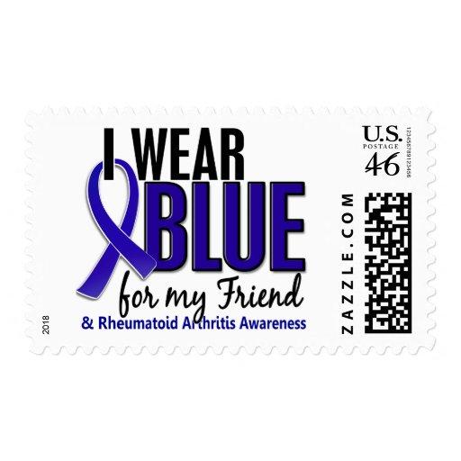 Llevo el RA azul de la artritis reumatoide del ami Envio