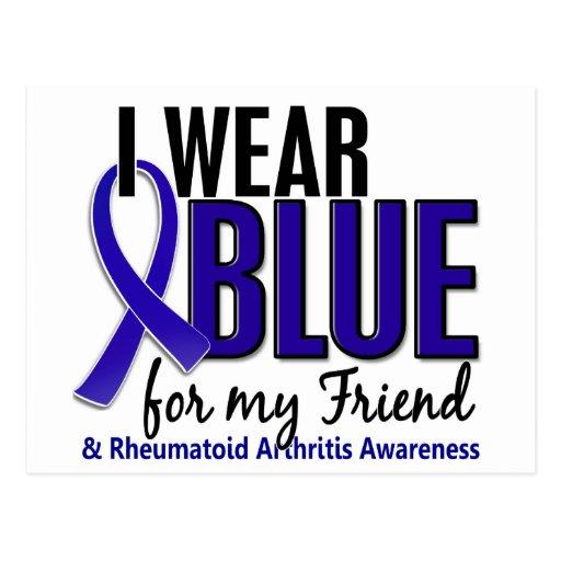 Llevo el RA azul de la artritis reumatoide del ami Postal