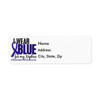 Llevo el RA azul de la artritis reumatoide del Etiqueta De Remite