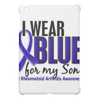 Llevo el RA azul de la artritis reumatoide del hij