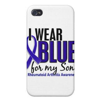 Llevo el RA azul de la artritis reumatoide del hij iPhone 4/4S Funda