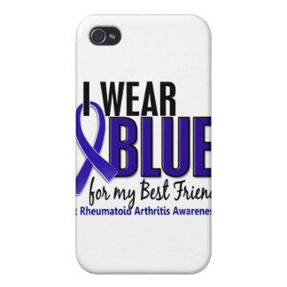 Llevo el RA azul de la artritis reumatoide del mej iPhone 4/4S Carcasas