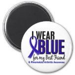 Llevo el RA azul de la artritis reumatoide del mej Imán Para Frigorifico