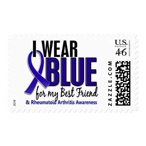 Llevo el RA azul de la artritis reumatoide del mej Franqueo