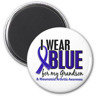 Llevo el RA azul de la artritis reumatoide del nie Imán Redondo 5 Cm
