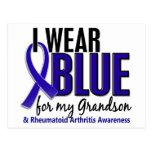 Llevo el RA azul de la artritis reumatoide del nie Tarjetas Postales