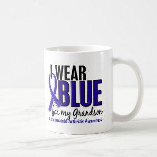 Llevo el RA azul de la artritis reumatoide del nie Tazas